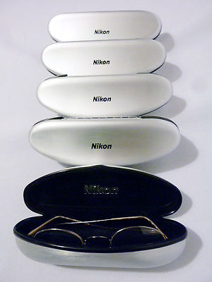 5 Pc. Nikon 7509-16 Gold 46/20 Titanium Semi Rimless Eyeglass Frame Lot New