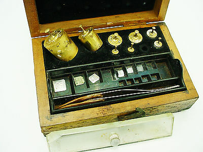 Vintage Weight set for Balance Scales in wood box