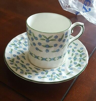 """Aynsley """"forget Me Not"""" Boxed Coffee Set"""