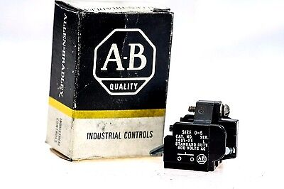 AbAllen Bradley 1495-F1 Auxiliary Contact 1 No Size 0-5 New In Box! (G25)
