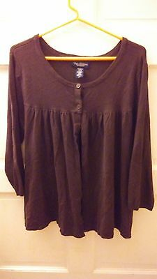New Additions Maternity sweater cardigan brown womens ex large XL long sleeve