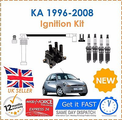 For Ford Ka   Ignition Spark Plugs Coil Pack Ht Leads Set New