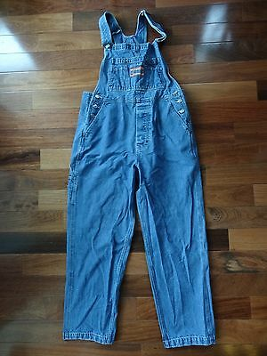 LIMITED JEANS Adult Size LARGE Carpenter Work BLUE Denim BIB OVERALLS