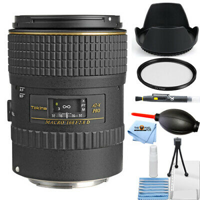 Tokina 100mm f/2.8 AT-X M100 AF Pro D Macro Lens for Canon EOS! STARTER KIT NEW!