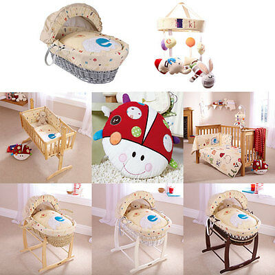 Clair de Lune ABC Moses Basket/Bedding Set/Cushion/Musical Mobile, Neutral