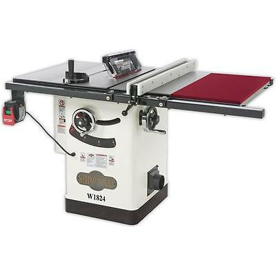 "W1824—2 HP 10"" Hybrid Cabinet Table Saw with Extension Table - Free Shipping"