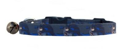 "BLUE GREY  ""  BATMAN ""  safety kitten cat collar  3 sizes"