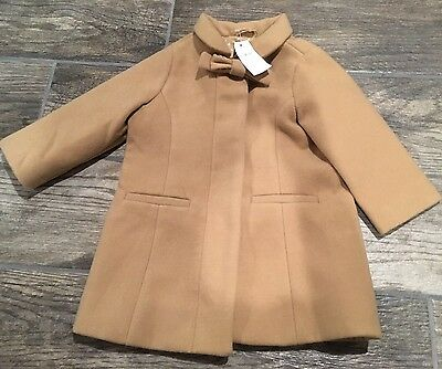 GAP Baby Toddler Girl Size 12-18 Months Beige Tan Party Dress Coat Jacket w/Bow