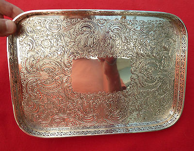Silver Plate English Gallery Tray