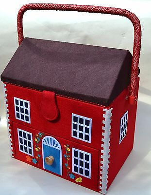 EXCELLENT CONDITION CATH Kidston Large Red House Sewing Box New With ...