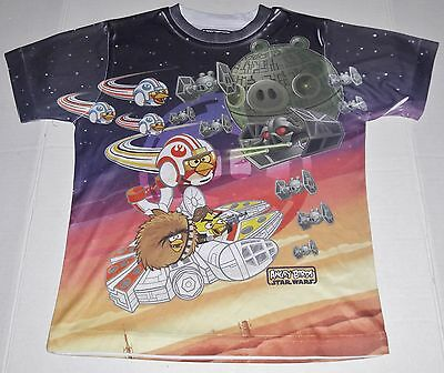 Angry Birds Star Wars Boys Graphic T-Shirt Size 8 Euc! Fast Shipping!