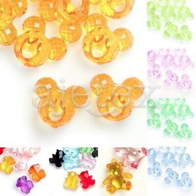 Acrylic Animal Beads Transparent Spacer DIY Jewellery Pendant Necklace Bracelet