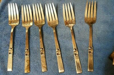 Vintage Silverplate Community Fork lot of 6