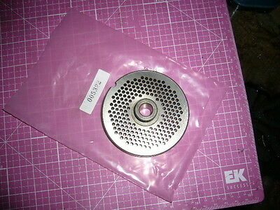 """#22 1/8 Hollymatic Hubbed Grinder Plate 3 1/4"""" DIA 13MM THICK Unused"""