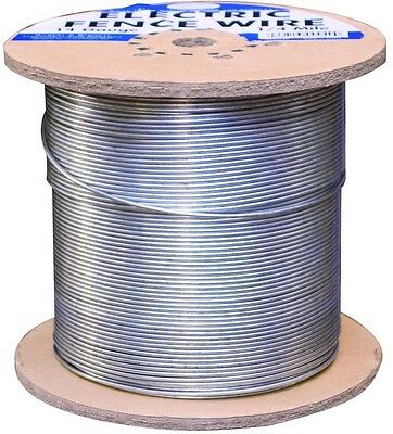 Galvanized Electric Fence Wire 14-Gauge Cattle Cows Goats Farm Grazing Fencing