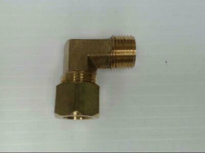 """Brass P-69-86-LF Tube to Male 90° Elbow Pipe 1/2"""" x 3/8"""" Adapter Fitting *Qty 10"""