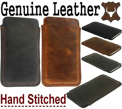 Handcrafted & Durable Genuine Leather Pocket Case Cover Sleeve Pouch For Iphone