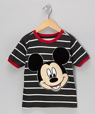 Disney Mickey Mouse Face Toddler Boys Tee t Shirt Graphic Character 2t 3T 5t nwt