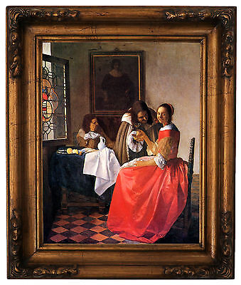 Vermeer Girl with a red hat Wood Framed Canvas Print Repro 11x14