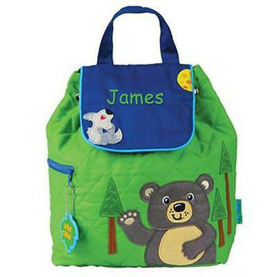 Toddler Backpack Personalized Stephen Joseph Bear Custom Name