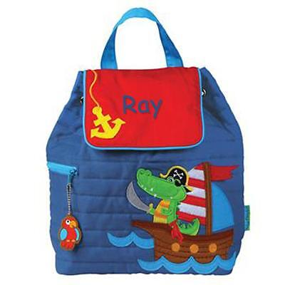 Toddler Backpack Personalized Stephen Joseph Alligator-Pirate Custom Name