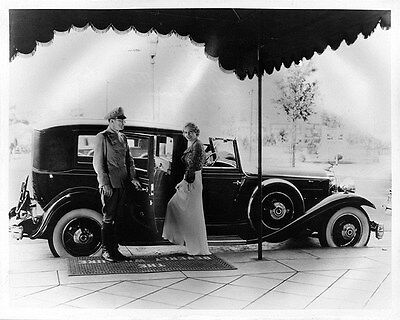 1932 Packard Eight Cabriolet Factory Photo Madge Evans ca7791