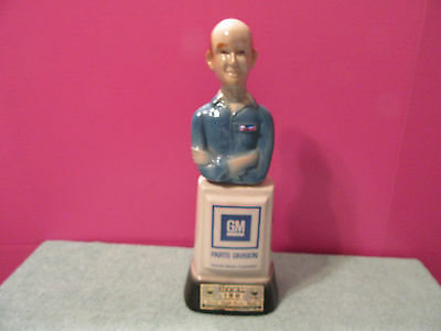 GM Parts Jim Beam decanter bottle 100 years Mr Goodwrench Wi bar display car