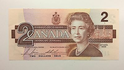 1986 Canada Two 2 Dollars BRX Replacement Series Note Uncirculated Banknote A993