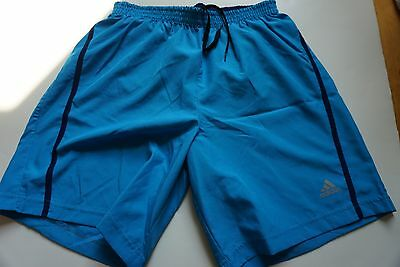 Brand new men Adidas Climalite Athletic Blue Running Shorts size S Retail $45