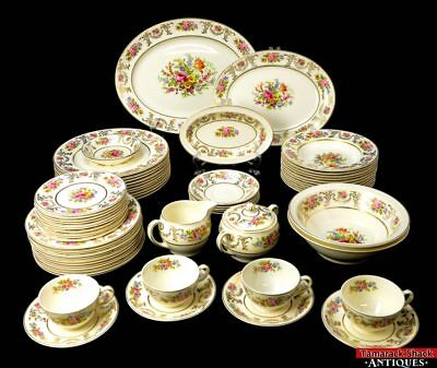 66 pc Set Lot Johnson Bros Brothers England Marlborough Pareek Dinnerware L8Z