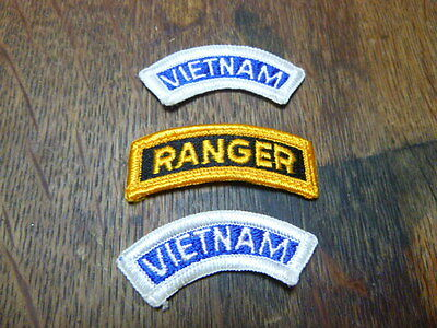 A   Lot of 3  U S Army Merrowed Edge Tab Patches