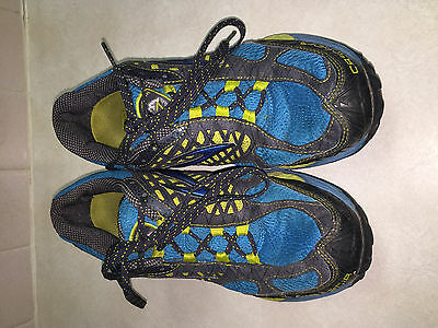 Brooks Cascadia 7 Trail Running Shoes in Blue/Yellow/Black Men's Size 10.5M