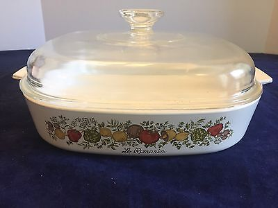 Corning Ware A-10-11 Spice Of Life Casserole Bakeware Baking Dish W Lid Vintage