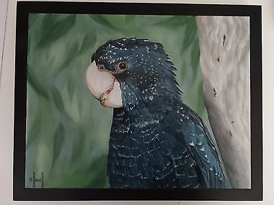 Oil painting, Original, hand painted,  birds, cockatoo