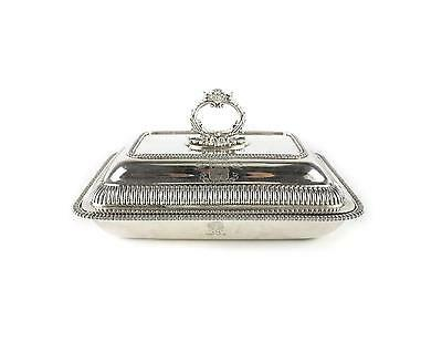 George III Thomas Robins Sterling Silver Covered Vegetable Dish, 1815