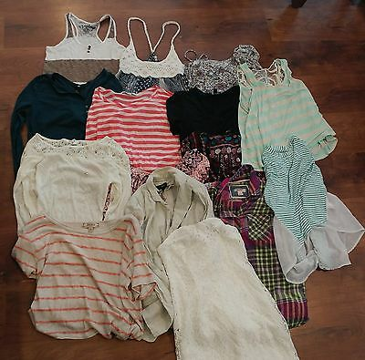 Juniors HUGE lot of 15 size S clothes Charlotte Russe Forever 21 Rock Republic