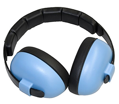 Baby Banz EMBB Hearing Protection, 0-2 Years, Blue 100% Plastic