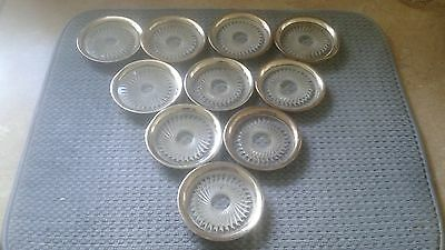 Sterling Silver George Jensen Lot Of 10 Coasters
