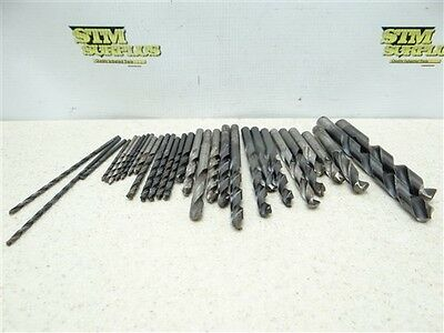 "Large Lot Of 25+ Assorted Hss Drills 1/8"" To 31/64"" Dia Usa C-L Gtd Ptd"
