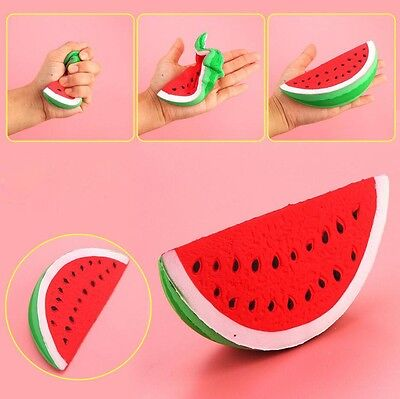 Squeeze Squishy Watermelon Fruit Slow Rising Stress Reliever Stretch Kids Toys