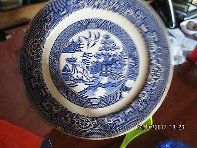Vintage Homer Laughlin Blue Willow Plate  A41 N6 USA