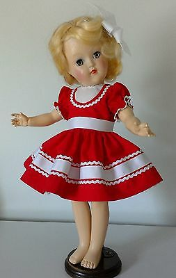 """Vintage Style Reproduction Dress for the P-90 14""""Toni Dolls by Ideal or Tonner"""