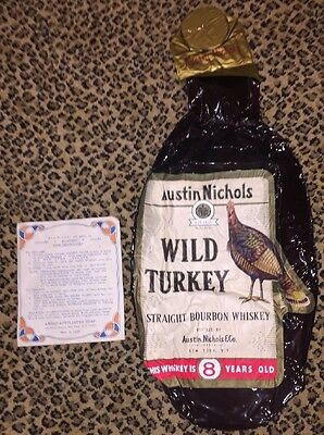 Inflatable Wild Turkey Straight Bourbon Whiskey Blow Up- Never Used!