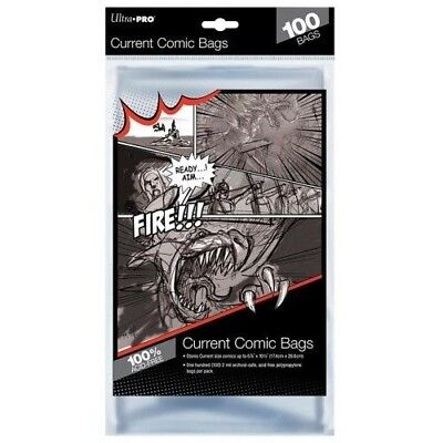 100 Pack Current Comic Clear Bag Sleeve Size Ultra Pro Storage Protection
