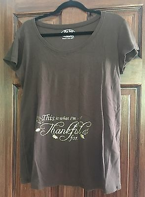Maternity Plus Size Thanksgiving Pregnancy Announcement T Shirt Tee Thankful