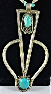 Vintage Navajo Naja Necklace - Sterling Silver & Turquoise