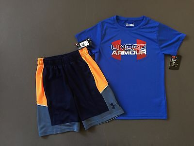 Under Armour kid Boys 2 Piece shirt and shorts Outfit Kids Size 6 NWT