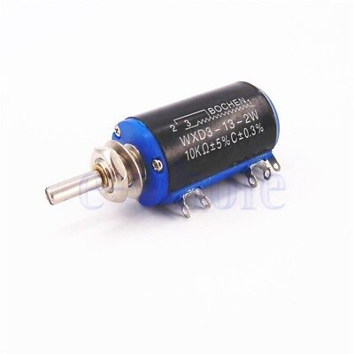 WXD3-13-2W Black Precision Multi-Turn Wirewound Linear Potentiometers 10K OHM LE