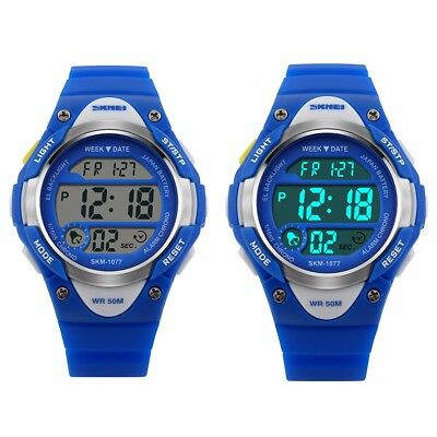 Kids Children Watches LED Digital Waterproof Sports Wrist Watch For Boys Girls