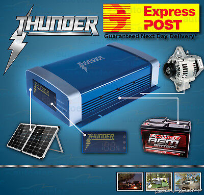 Express Post Thunder 20A Amp Dual Battery Isolator Dc To Dc Charger System Kit